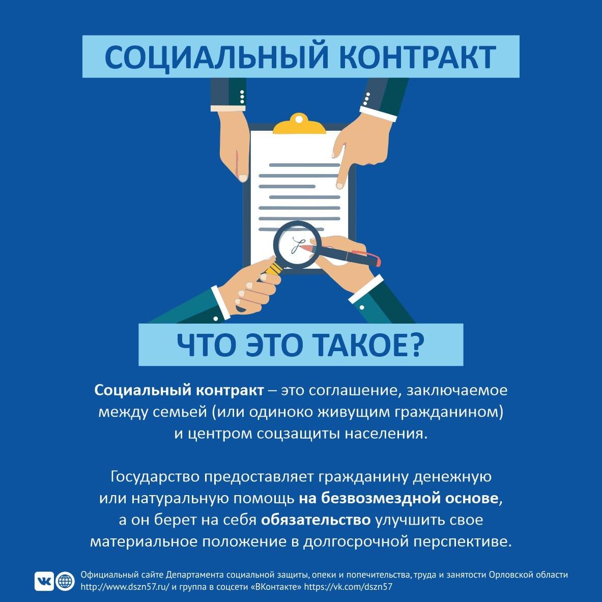 Материалы по социальным контрактам